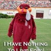 crying hokie bird virginia tech tears