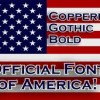 Americas Official Font Copperplate Gothic Bold