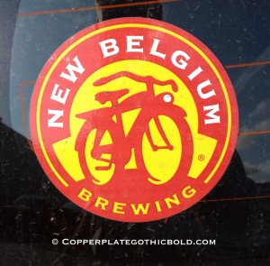 new belgium beer copperplate gothic bold brewing